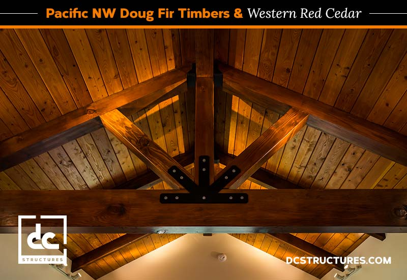DC Structures Pacific NW Doug Fir Timbers & Western Red Cedar Blog Content Graphic