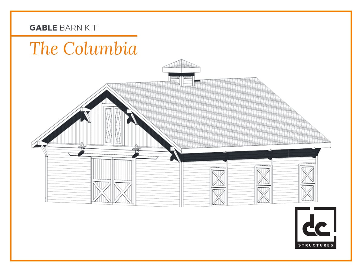 DC Structures Columbia Category Gable Barn Kit