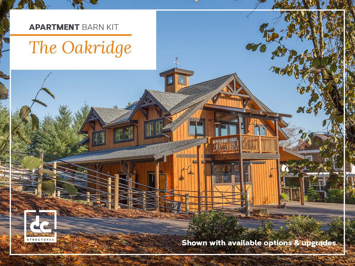 Oakridge Apartment Barn Kit - Wood Barn Home Kit - DC Structures