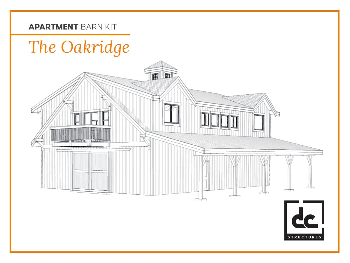 DC Structures Oakridge Category Apartment Barn Kit