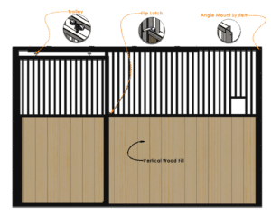 DC Structures Spartan Series Front Horse Stall Gate