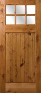 Rogue Valley Wooden Door with Glass Window