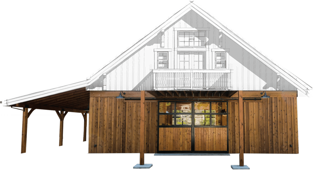 Columbia Barn Kit Gable Horse Barn Kit Dc Structures