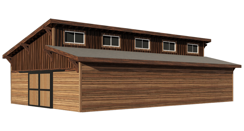 Brightwood Barn Kit Clerestory Horse Barn Kit Dc