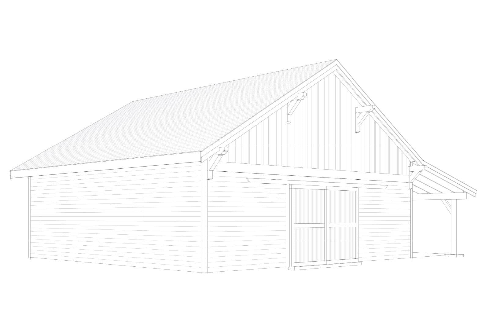 columbia gable barn kit 36 u0027 dc structures