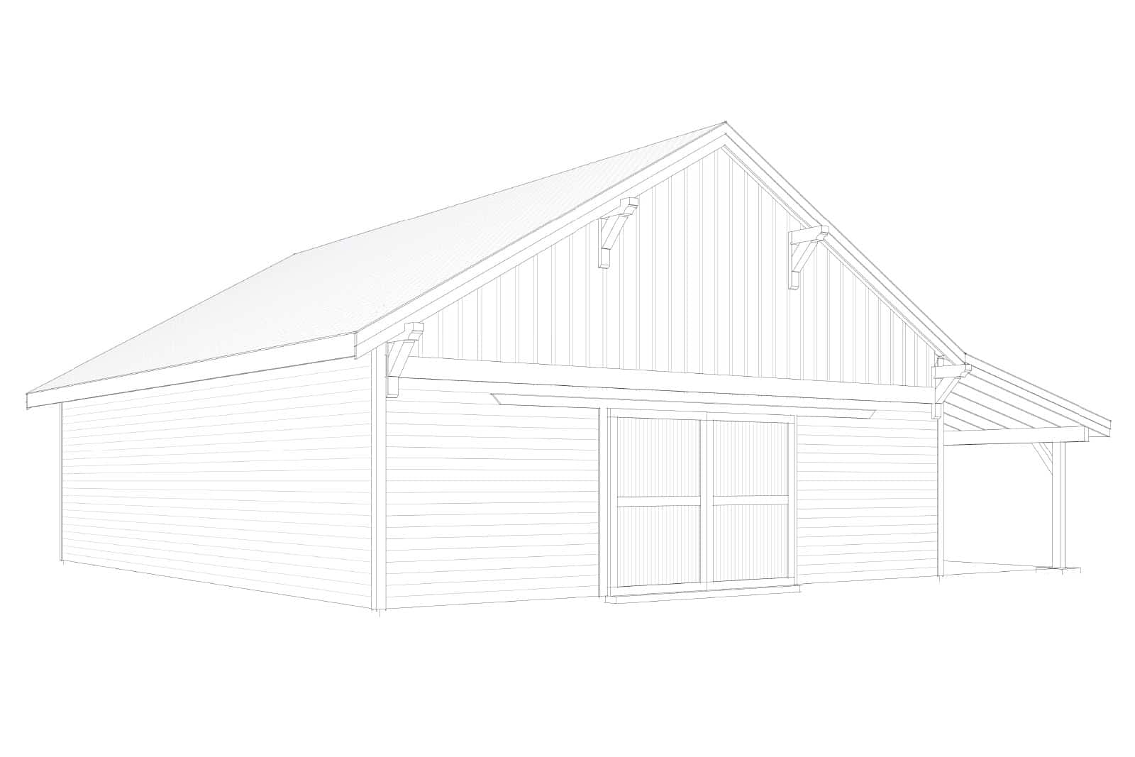 Columbia Gable Barn Kit 48