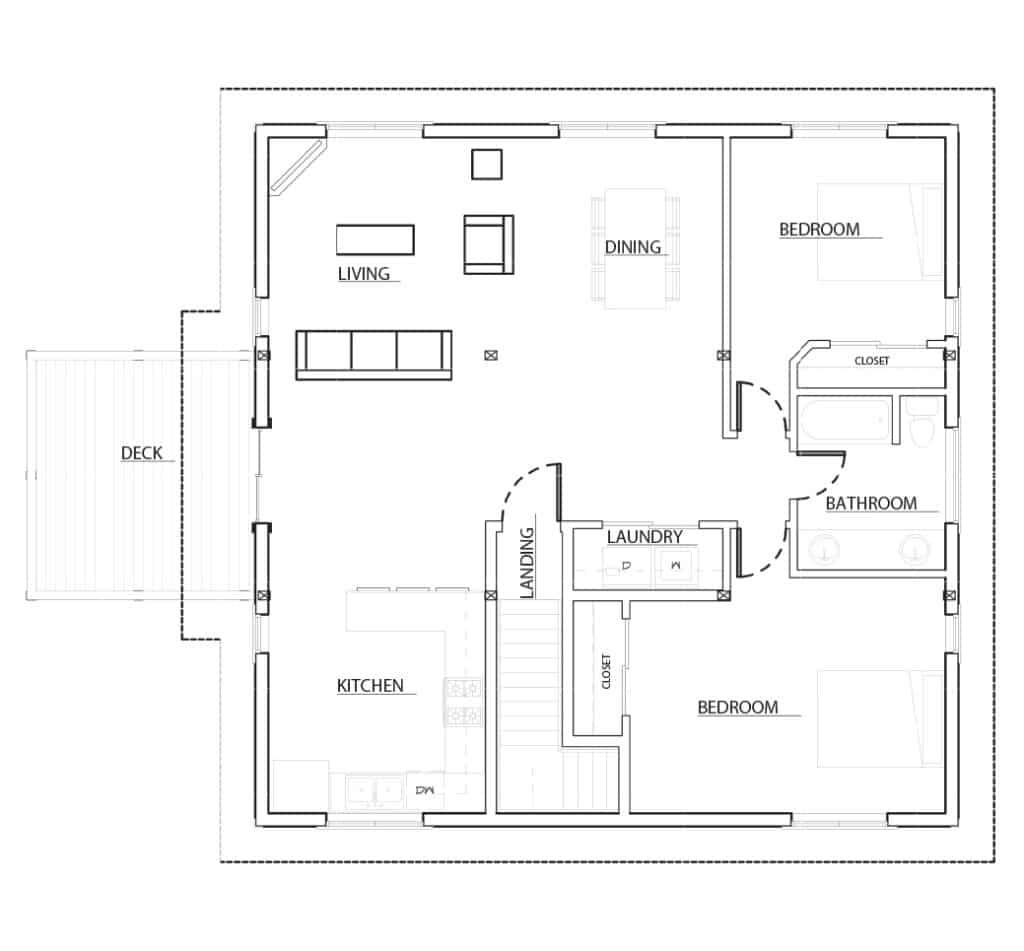 Oakridge apartment barn kit 36 39 barn home kit dc for Home hardware floor plans