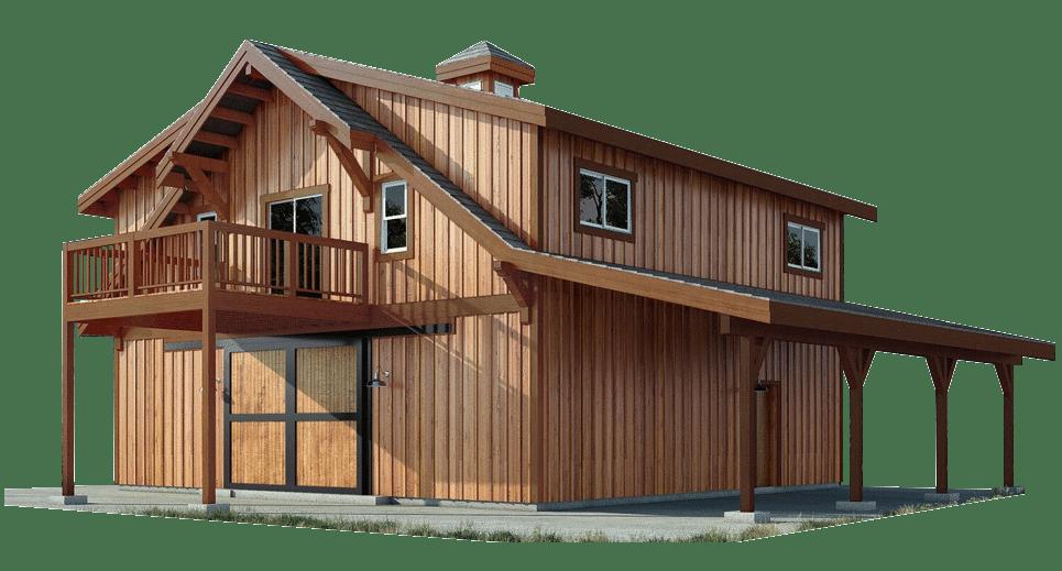 Oakridge Apartment Barn Kit 36 Barn Home Kit Dc