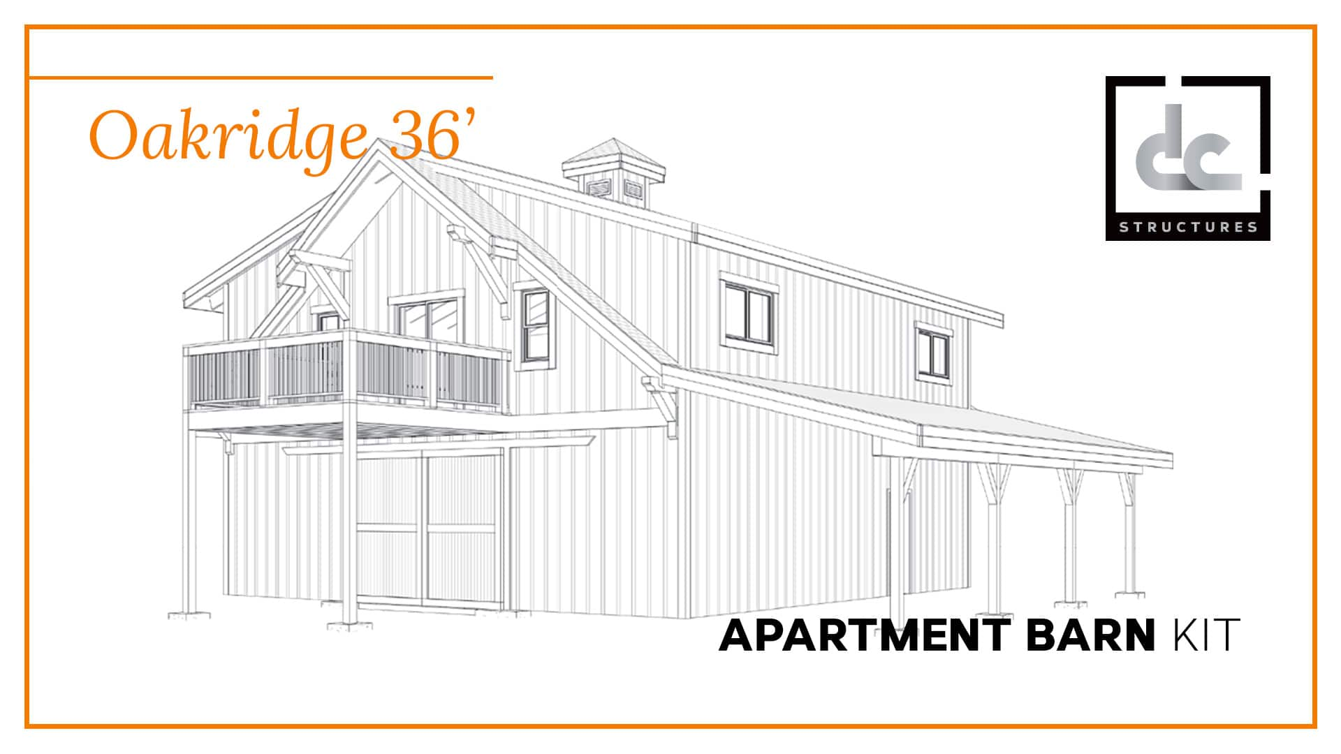 oakridge apartment barn kit 36 barn home kit dc structures starting price