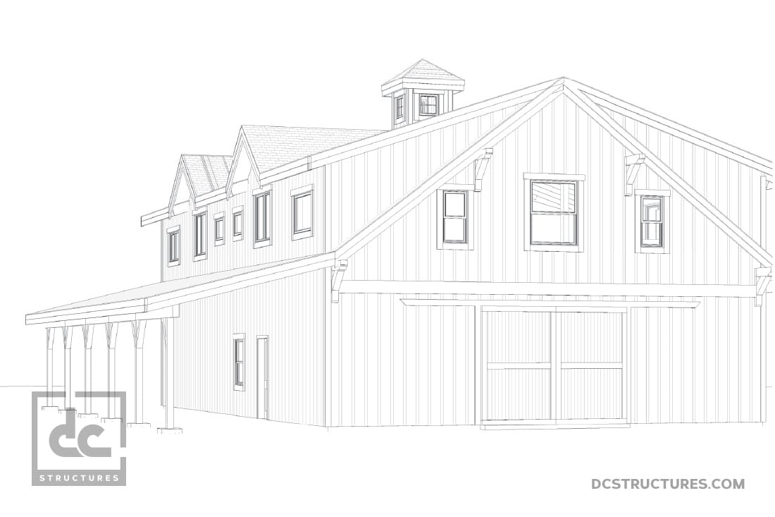 DC Structures Oakridge 60 Rendering Side View