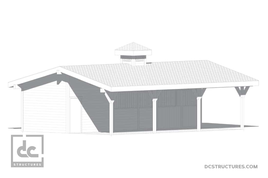 DC Structures Pendleton 36 Front Rendering
