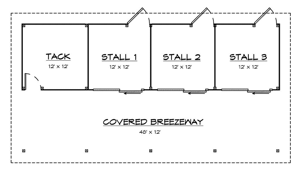DC Structures Pendleton 48 Floor Plan Floor 1