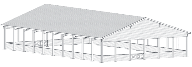 Prairie Arena Kit Covered Riding Arena Kit Dc Structures