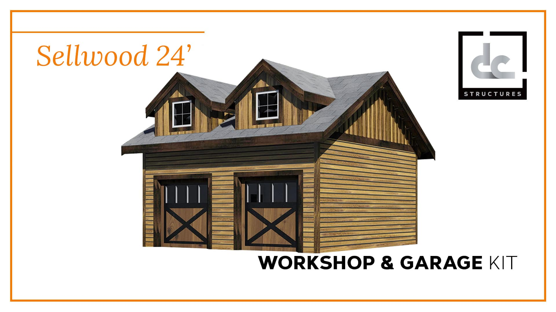 Sellwood garage kit 24 39 dc structures for 24 by 24 garage kit