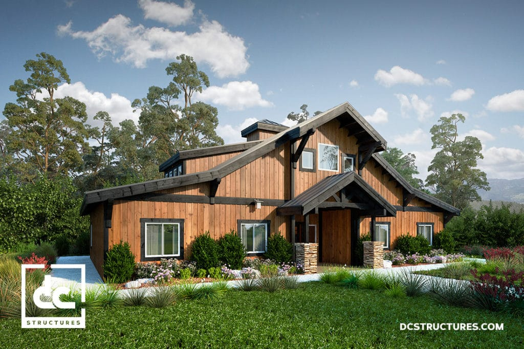 the concordia barn home kit 3 bedroom barn home plan. Black Bedroom Furniture Sets. Home Design Ideas
