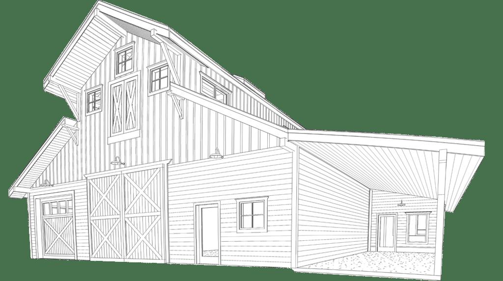 Washington Monitor Barn Workshop Kit - DC Structures