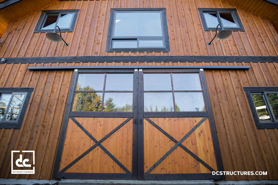 DC Structures Cornelius Apartment Barn Kit Front Window and Gate View