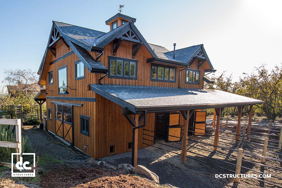 Different Styles Of Horse Barns : Horse barn kits dc structures