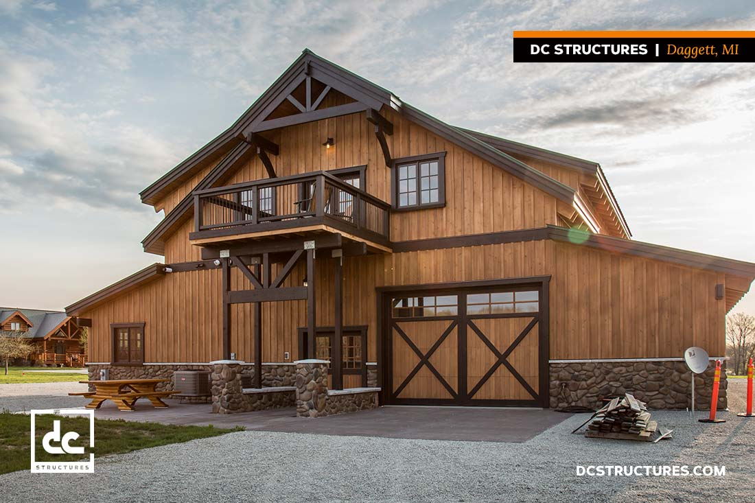 Project gallery dc structures for Barn style garage with living quarters