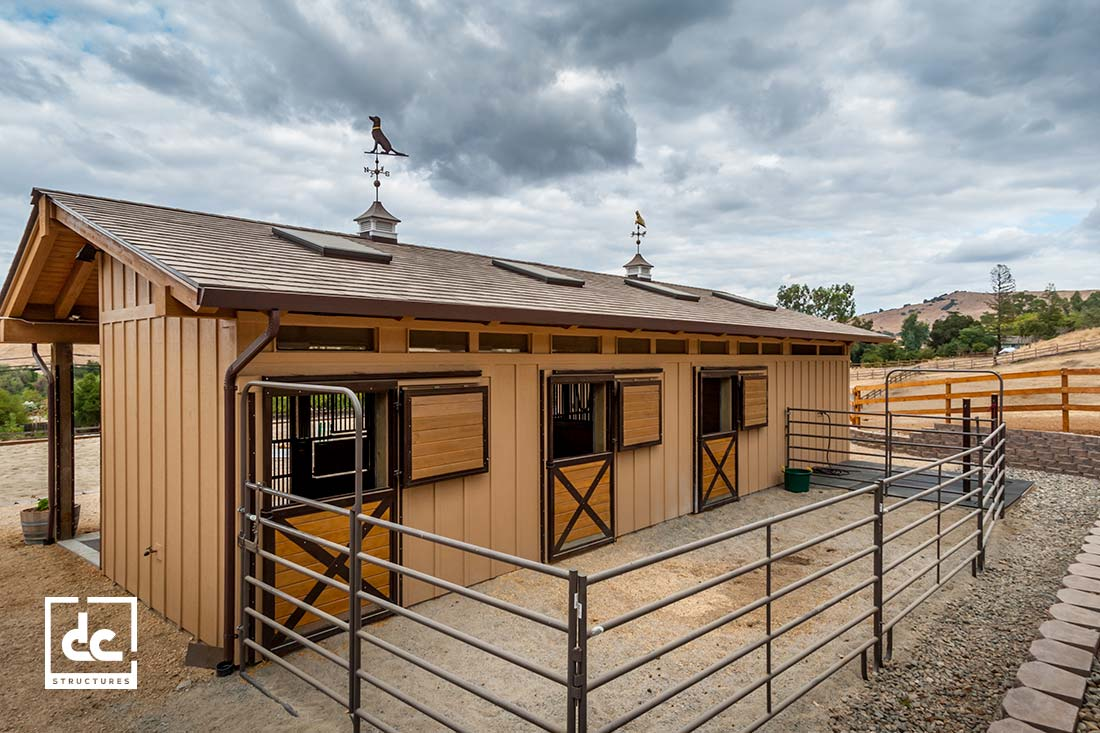 Pendleton Barn Kit Shed Row Horse Barn Kit Dc Structures