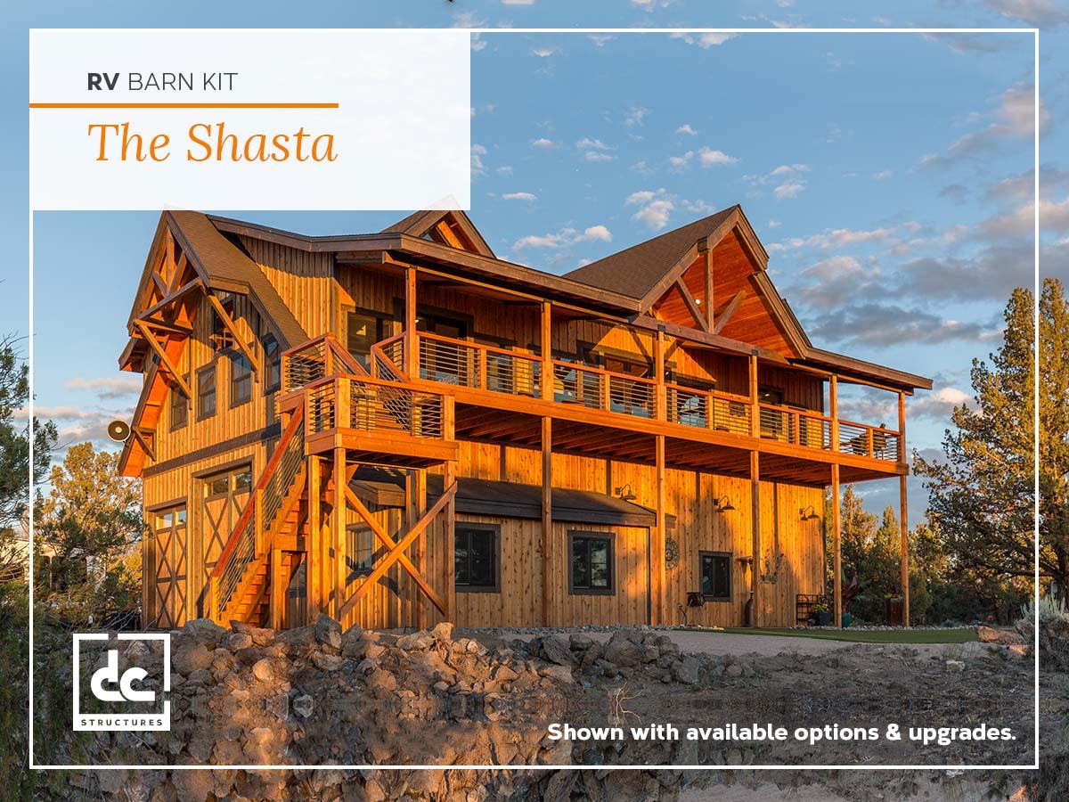 The Shasta RV Barn Kit - RV Garage With Living Quarters