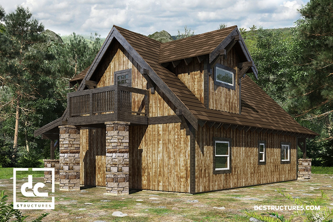 The Chinook Cabin Kit 3 Bedroom Cabin Plan Dc Structures