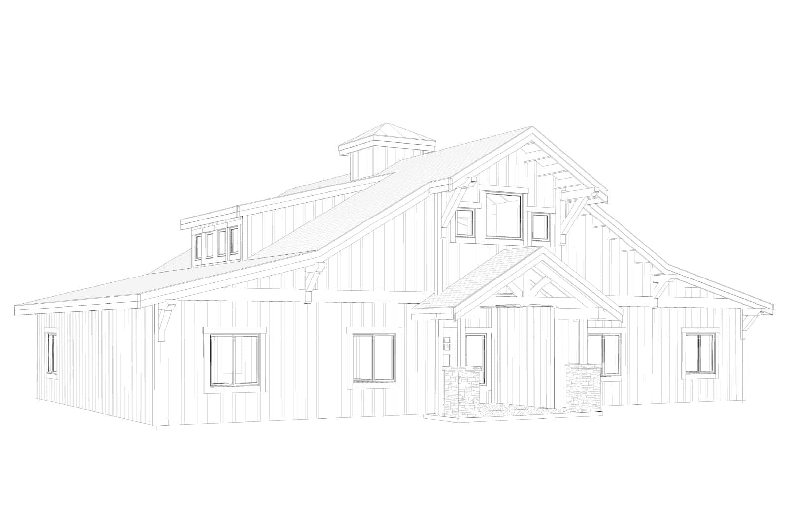 The concordia barn home kit 3 bedroom barn home plan for 3 bedroom barn house