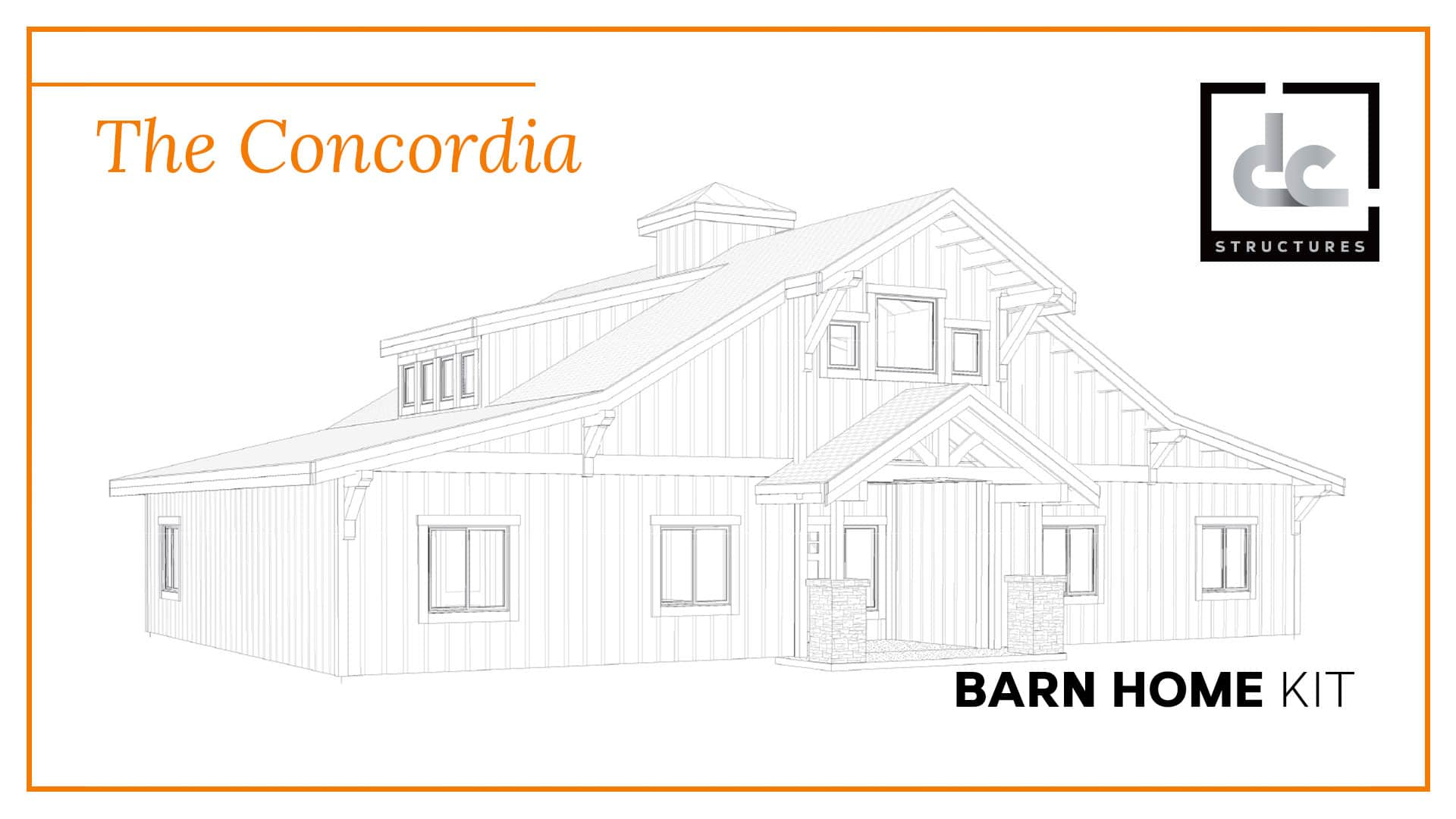 The Concordia Barn Home Kit 3 Bedroom Barn Home Plan