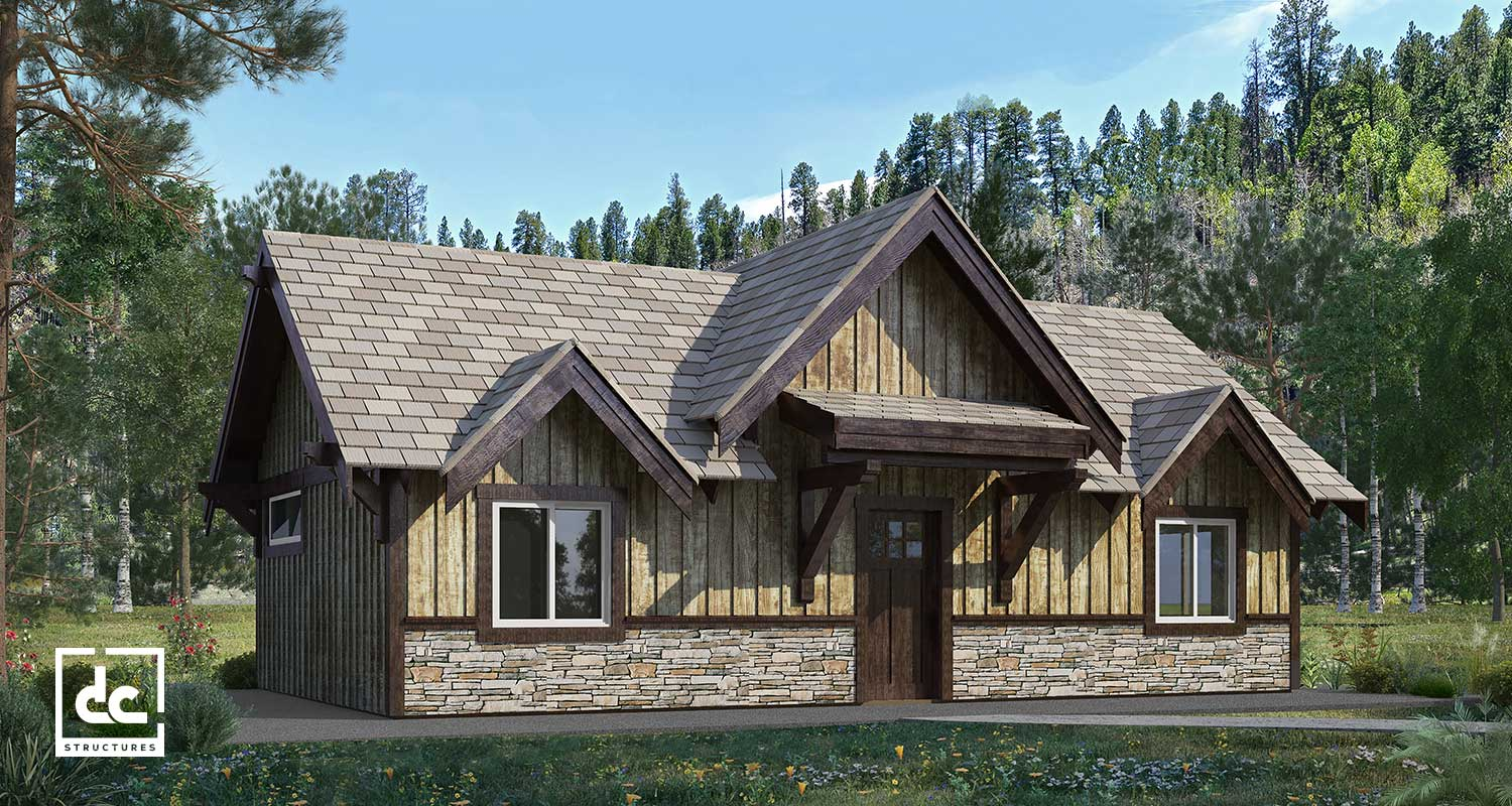 Cabin Kits - Post & Beam Wood Cabin Designs - DC Structures