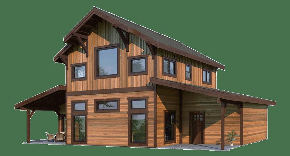 The Fremont Barn Home Kit 2 Bedroom Monitor Barn Home