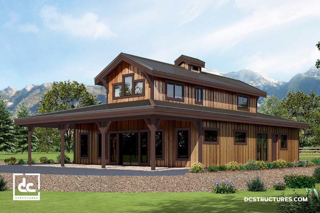 Hawthorne barn home kit 3 bedroom monitor barn home dc for Concrete home kits