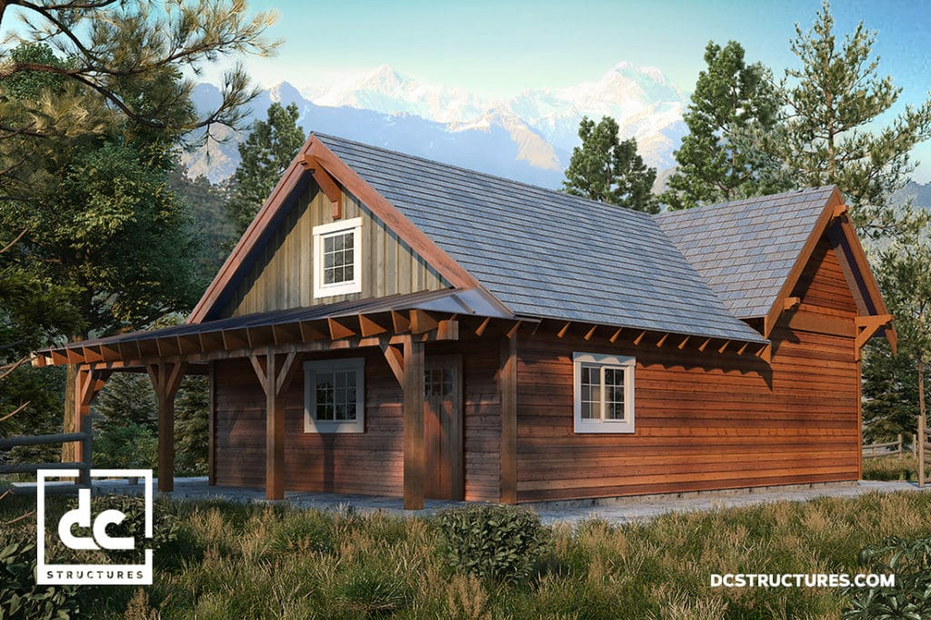Rogue cabin kit 2 bedroom cabin plan dc structures for 3 bedroom cabin kit