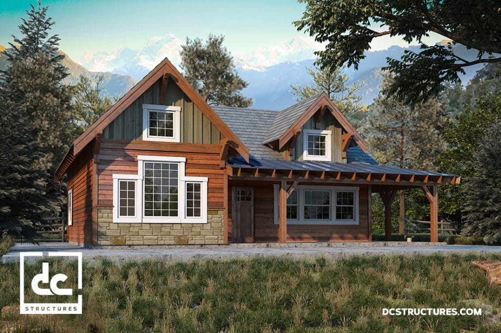 Rogue Cabin Kit 2 Bedroom Cabin Plan Dc Structures