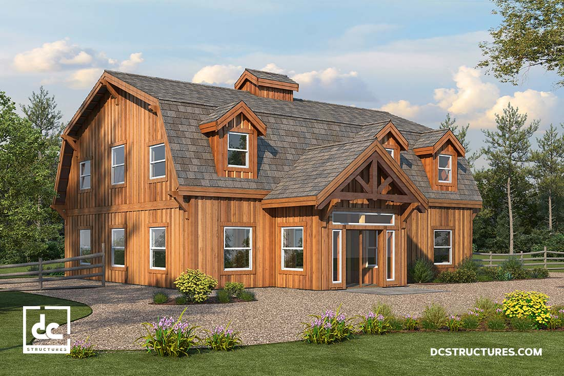 Barn home kits dc structures for 5 structural types of log homes