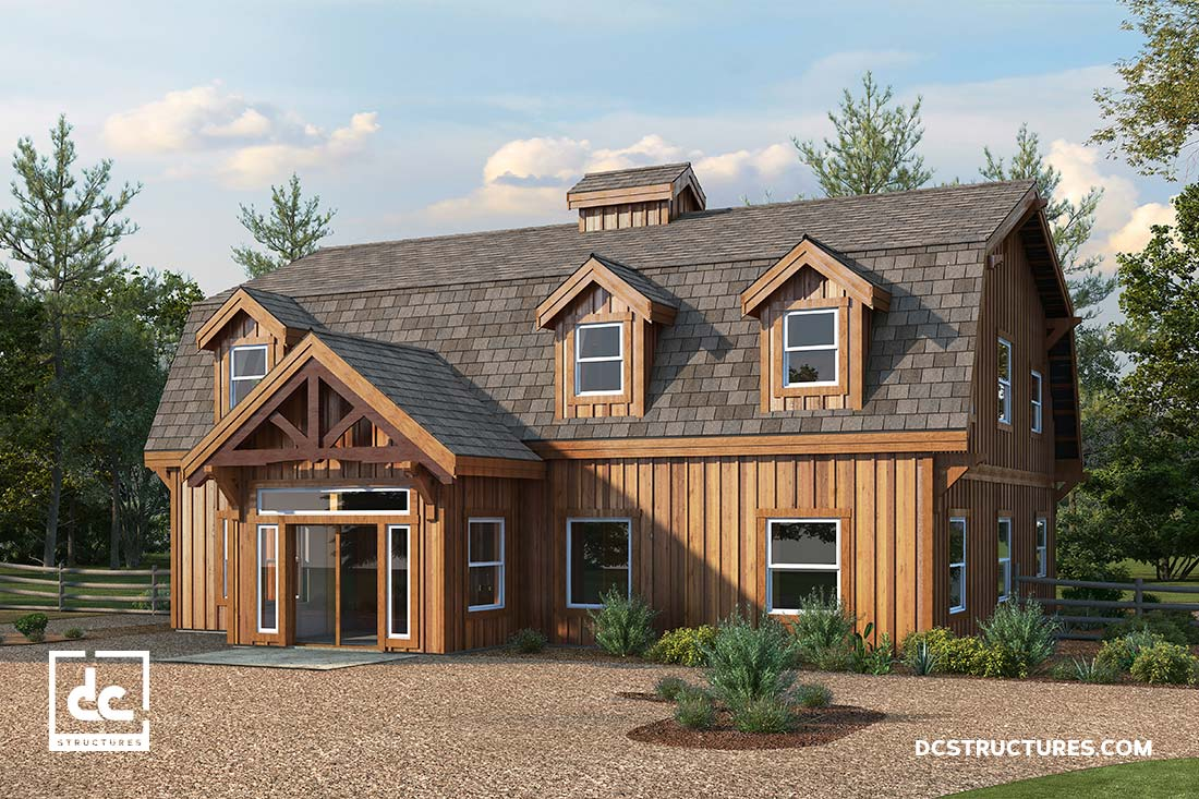 Barn home kits dc structures American barn style kit homes