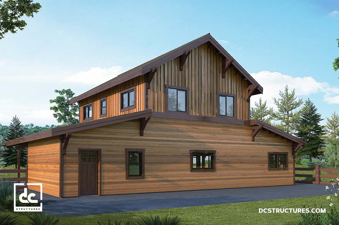 Anderson Patio Doors >> The Fremont Barn Home Kit - 2 Bedroom Monitor Barn Home ...