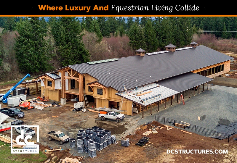 Covered Riding Arena And Barn With Living Quarters Dc Structures Blog