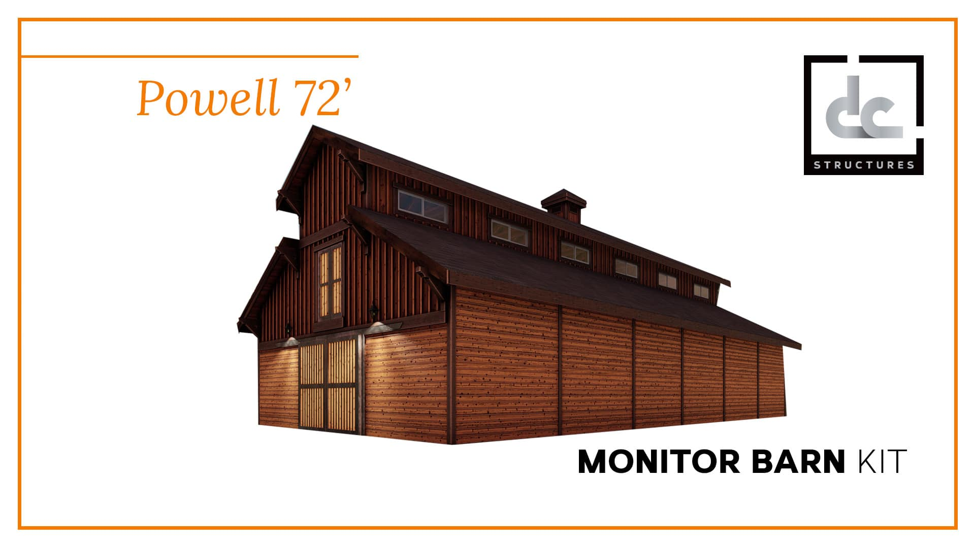 Powell monitor barn kit 72 39 dc structures for Monitor barn kit