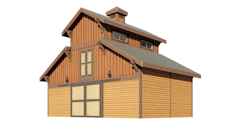 Powell Monitor Barn Kit 24 39 Dc Structures