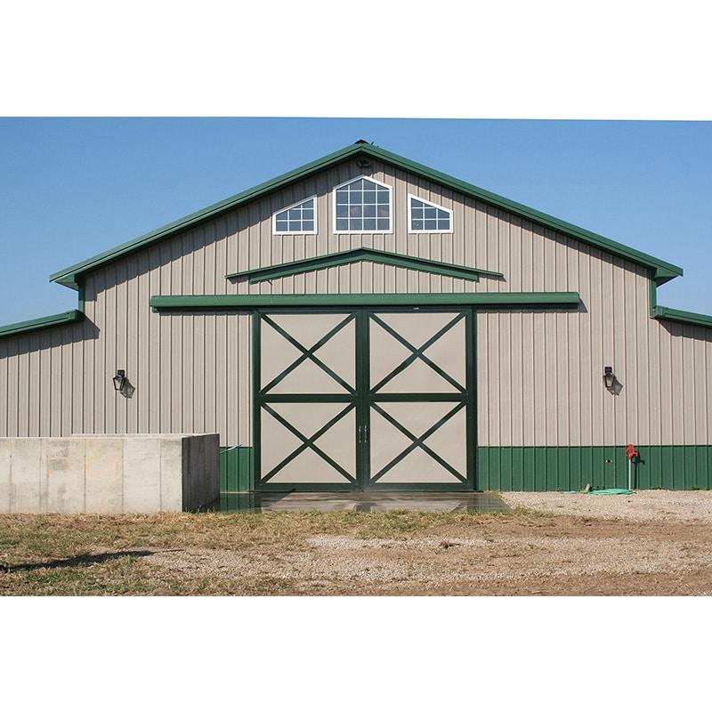 Barn end doors with double cross buck doors dc structures for 12x10 garage door