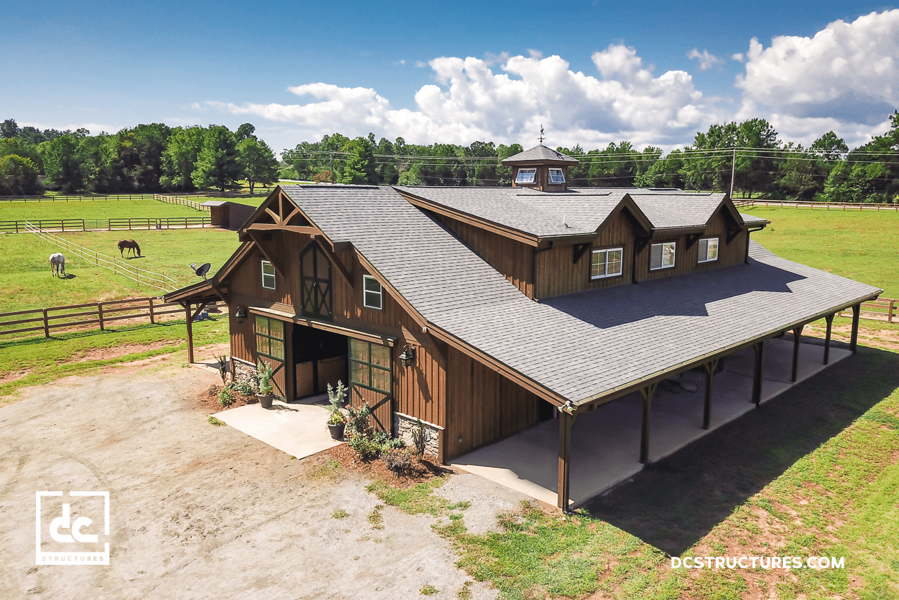 When Horse Barn Kits Come To Life Dc Structures Blog