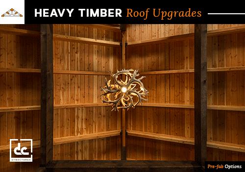 Heavy Timber Roof Prefabrication