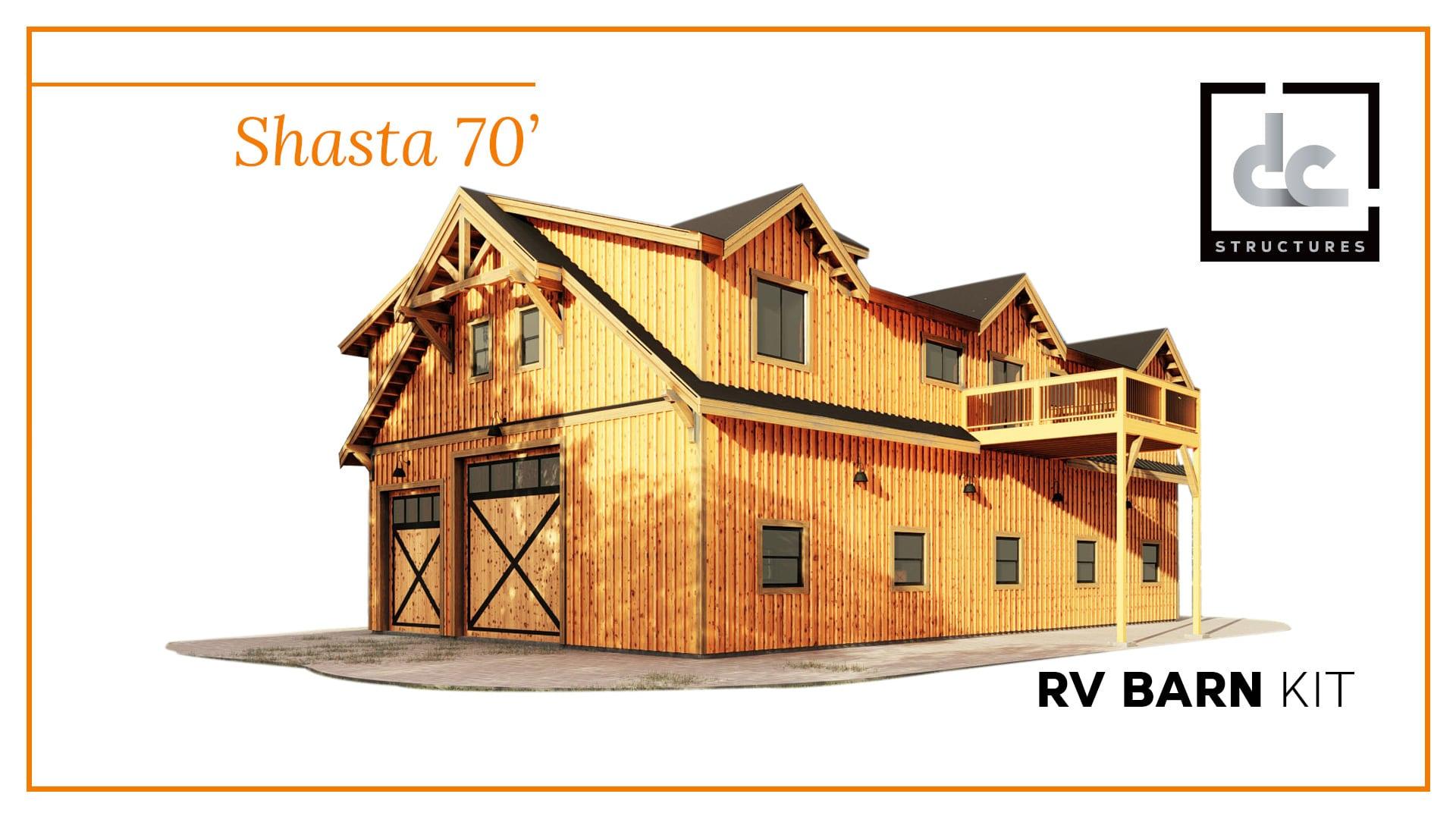 Shasta Rv Barn Kit 70 Garage With Living Quarters Kit