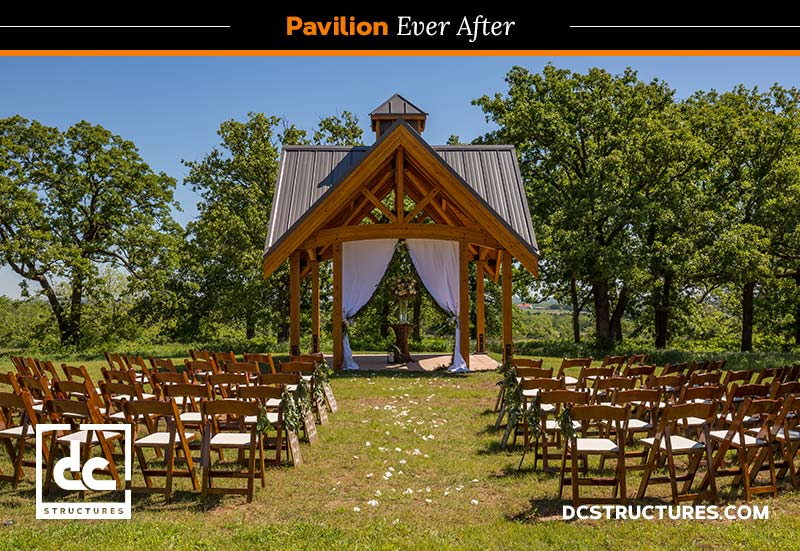 outdoor wedding pavilion