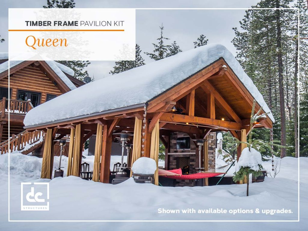 The Queen. Timber Frame Pavilion Kit