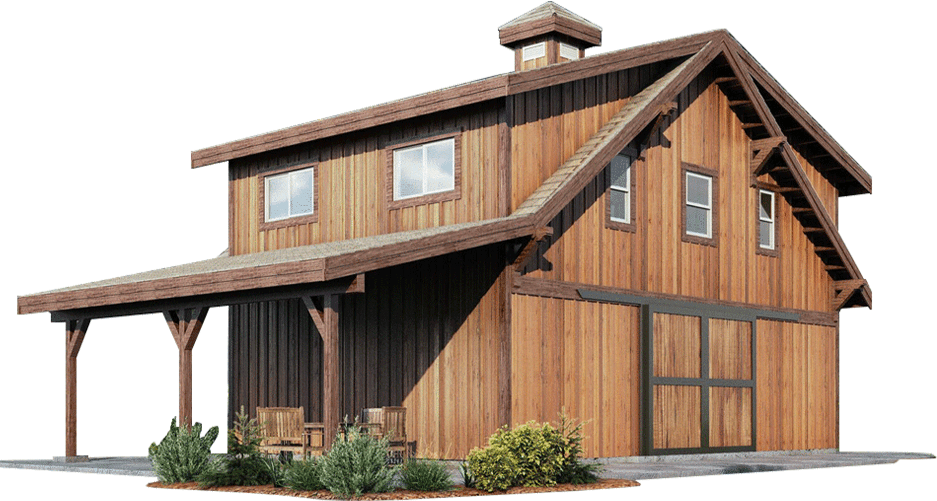 Oakridge Apartment Barn Kit - Wood Barn Home Kit - DC Structures on