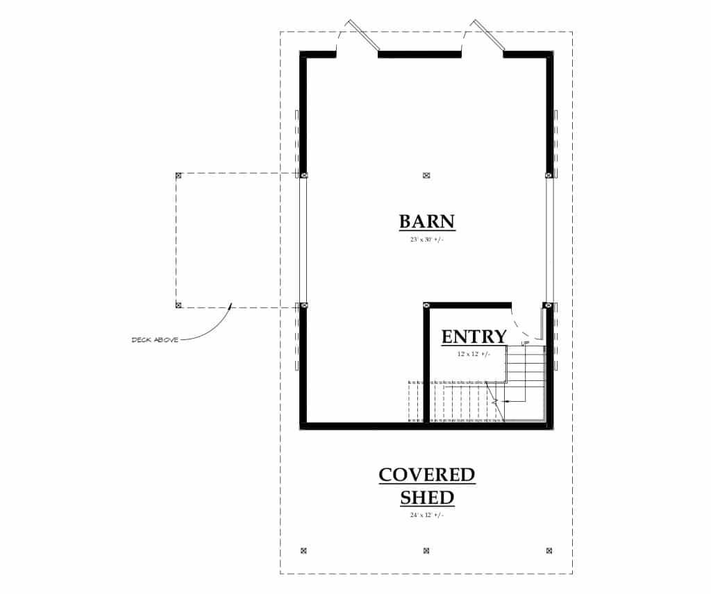 Oakridge Apartment Barn Kit - Wood Barn Home Kit - DC Structures