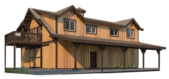 Oakridge Apartment Barn Kit
