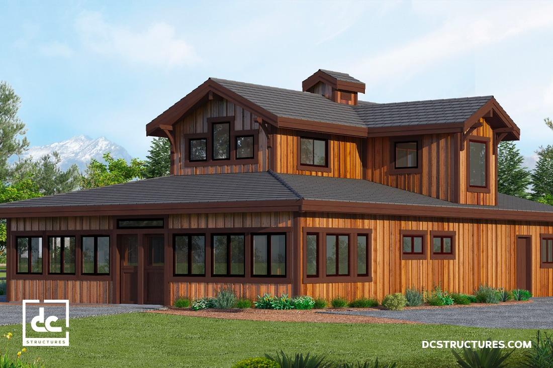 California Hawthorne Barn Home Kit